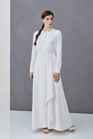 Wrap skirt ARETHA white