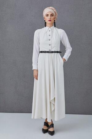 Sleeveless dress ROSIE white