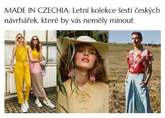 MADE IN CZECHIA: Letní kolekce šesti českých návrhářek, které by vás neměly minout