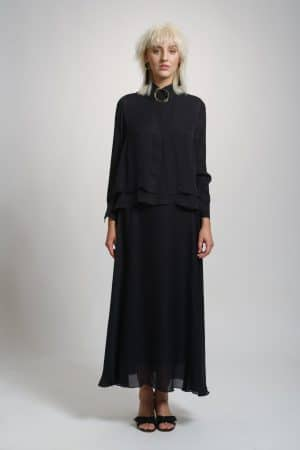 Silk shirt EMMA black