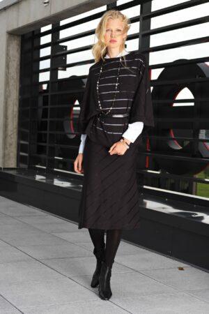 Striped kimono sleeves T-shirt NAHLA