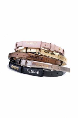 Handmade leather belt TALABAYA silver